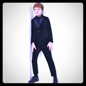 Boys Zara black velvet blazer